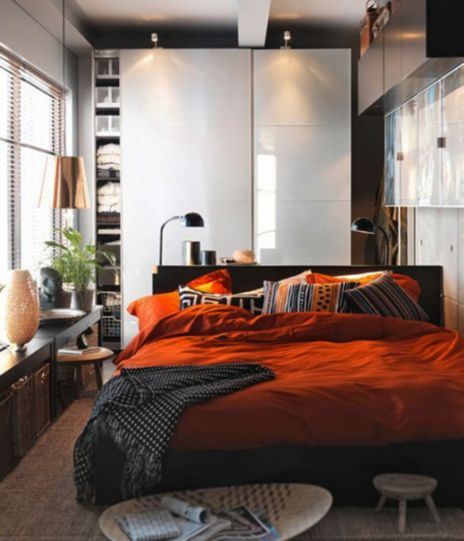 Stunning small apartment bedroom ideas 37