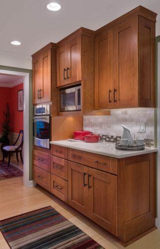 Stylish dark brown cabinets kitchen 03