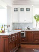 Stylish dark brown cabinets kitchen 15