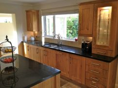Stylish dark brown cabinets kitchen 16