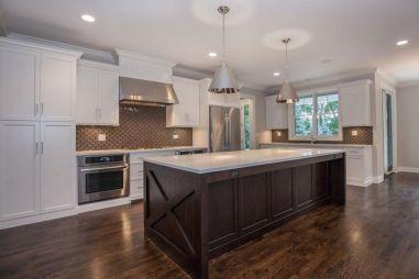 Stylish dark brown cabinets kitchen 21