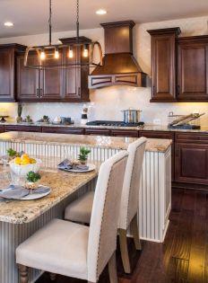Stylish dark brown cabinets kitchen 30