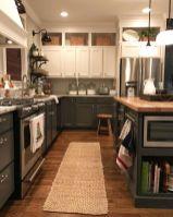 Stylish dark brown cabinets kitchen 42