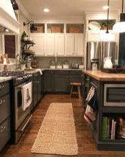 Stylish dark brown cabinets kitchen 42