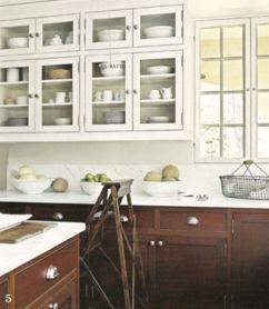 Stylish dark brown cabinets kitchen 73