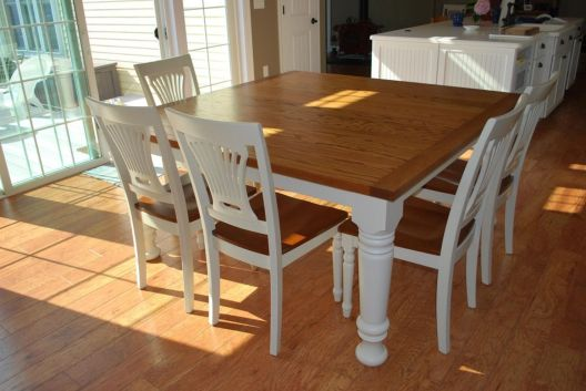 Stylish painted dining room table 01