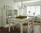 Stylish painted dining room table 03