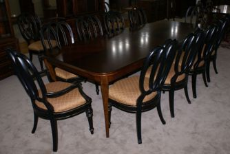 Stylish painted dining room table 08