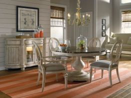Stylish painted dining room table 10