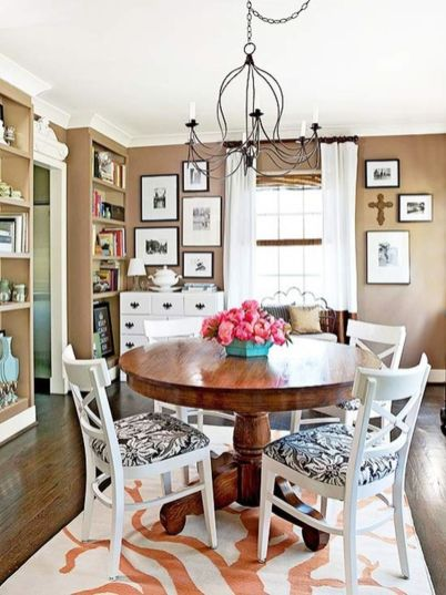 Stylish painted dining room table 12