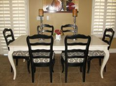 Stylish painted dining room table 14