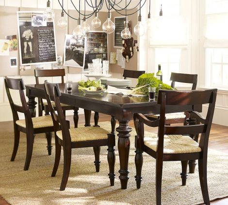 Stylish painted dining room table 18