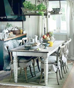 Stylish painted dining room table 25