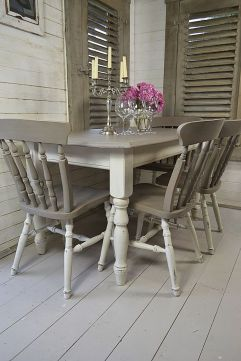 Stylish painted dining room table 27