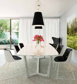Stylish painted dining room table 29
