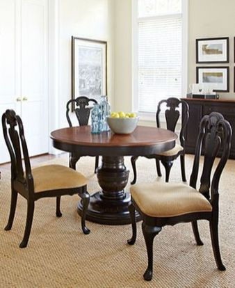 Stylish painted dining room table 32