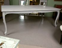 Stylish painted dining room table 36