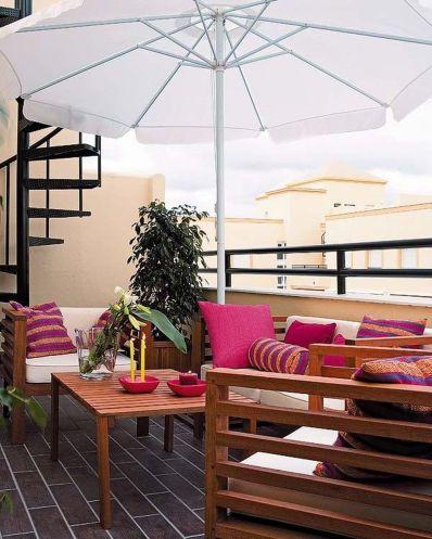 Stylish small patio furniture ideas 17