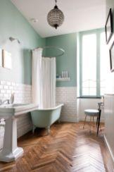 Stylish white subway tile bathroom 08