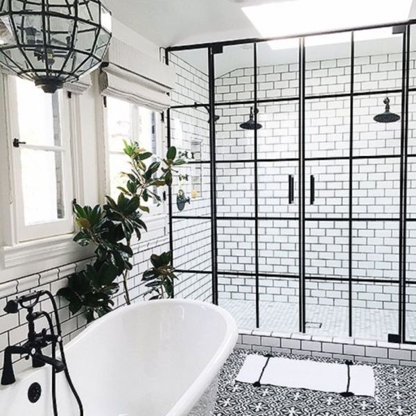 47 Stylish White Subway Tile Bathroom Ideas for Your Reference