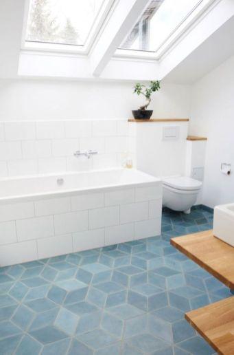 Stylish white subway tile bathroom 25