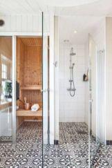 Stylish white subway tile bathroom 30