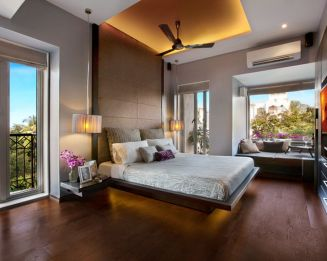 Stylish wooden flooring designs bedroom ideas 57