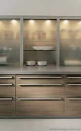 Wood and glass kitchen cabinets 02