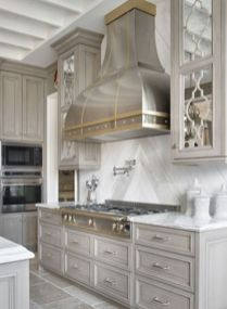 Wood and glass kitchen cabinets 06