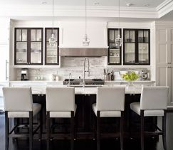 Wood and glass kitchen cabinets 09