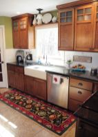 Wood and glass kitchen cabinets 19
