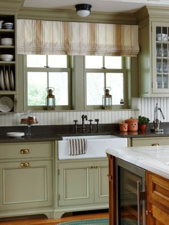 Wood and glass kitchen cabinets 21