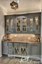 Wood and glass kitchen cabinets 27