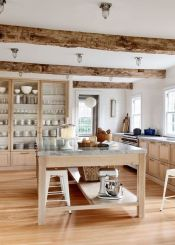 Wood and glass kitchen cabinets 29
