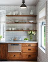 Wood and glass kitchen cabinets 34