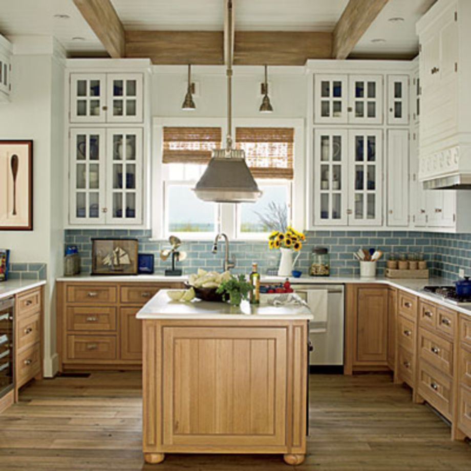 Wood and glass kitchen cabinets 42