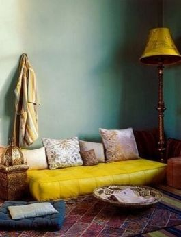 Adorable burnt orange and teal living room ideas 12