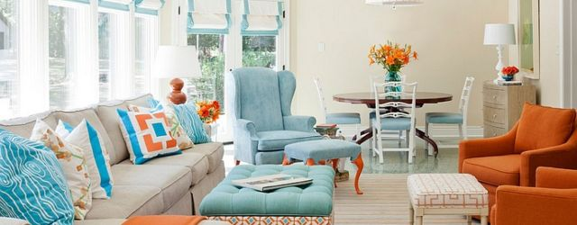 Orange And Teal Archives Round Decor