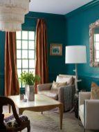 Adorable burnt orange and teal living room ideas 20