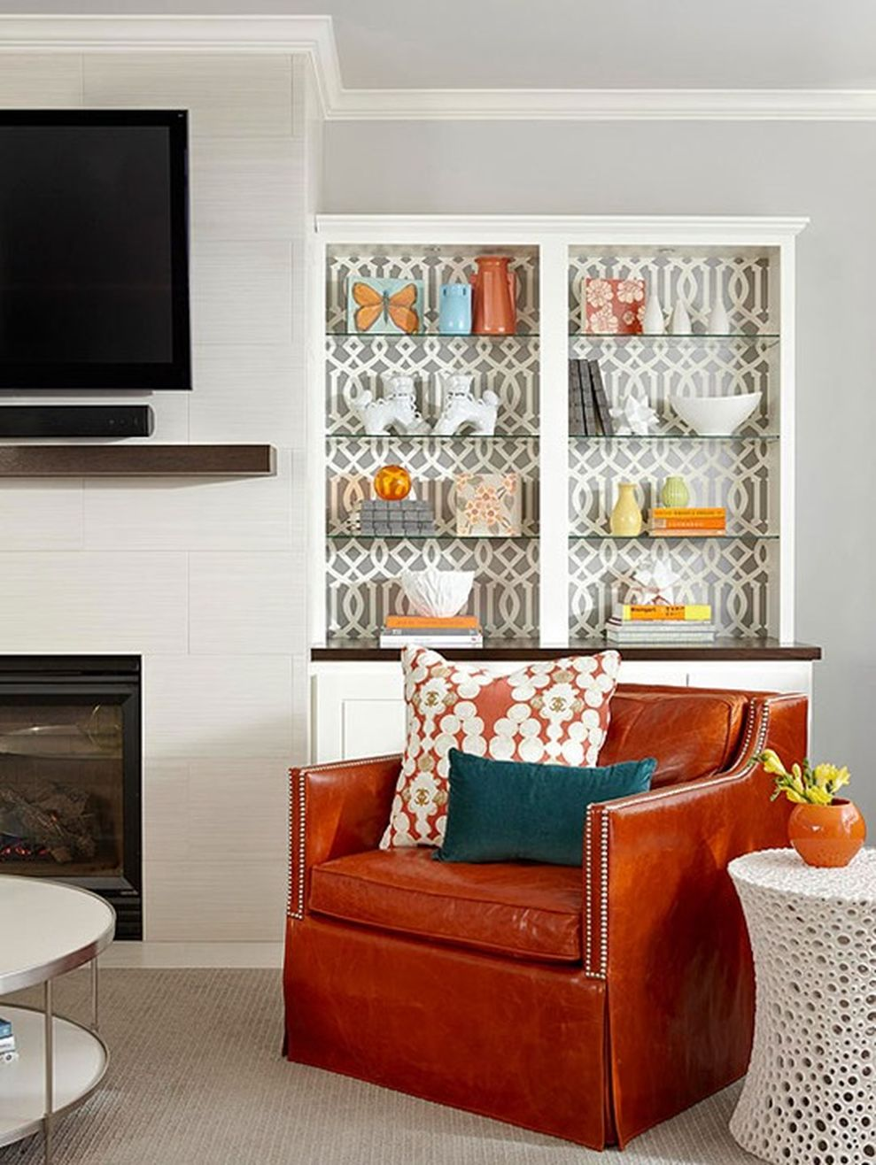 Adorable burnt orange and teal living room ideas 30 ...