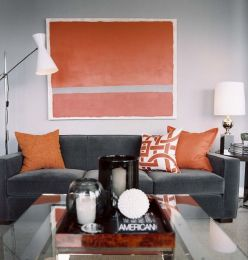 Adorable burnt orange and teal living room ideas 39