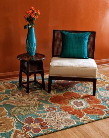 53 adorable burnt orange and teal living room ideas - Orange and teal decor ...