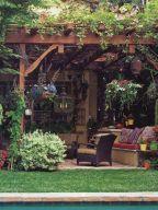 Adorable small patio garden design ideas 22