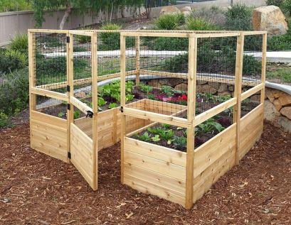 Affordable backyard vegetable garden designs ideas 12