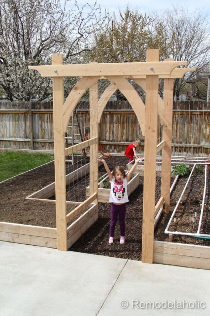 Affordable backyard vegetable garden designs ideas 15