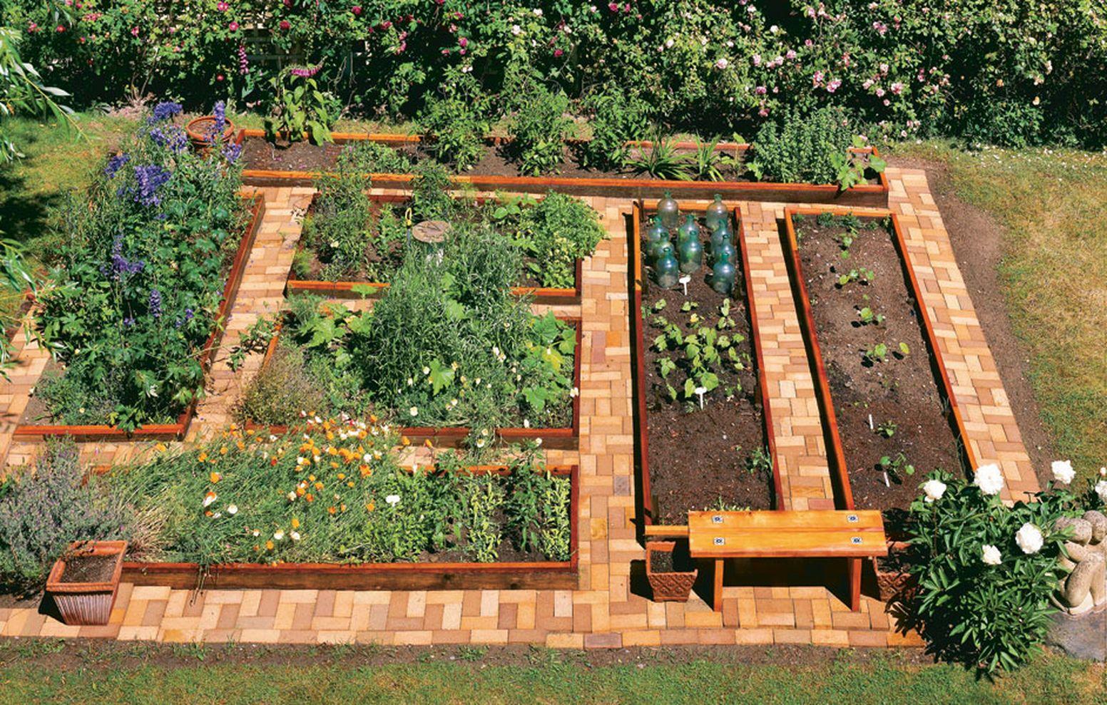 62 Affordable Backyard Vegetable Garden Designs Ideas ... on Vegetable Garden Ideas For Backyard id=19023