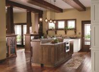 Amazing cream and dark wood kitchens ideas 10