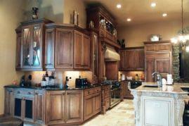 Amazing cream and dark wood kitchens ideas 27