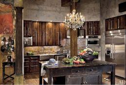 Amazing cream and dark wood kitchens ideas 35