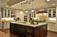 Amazing cream and dark wood kitchens ideas 37